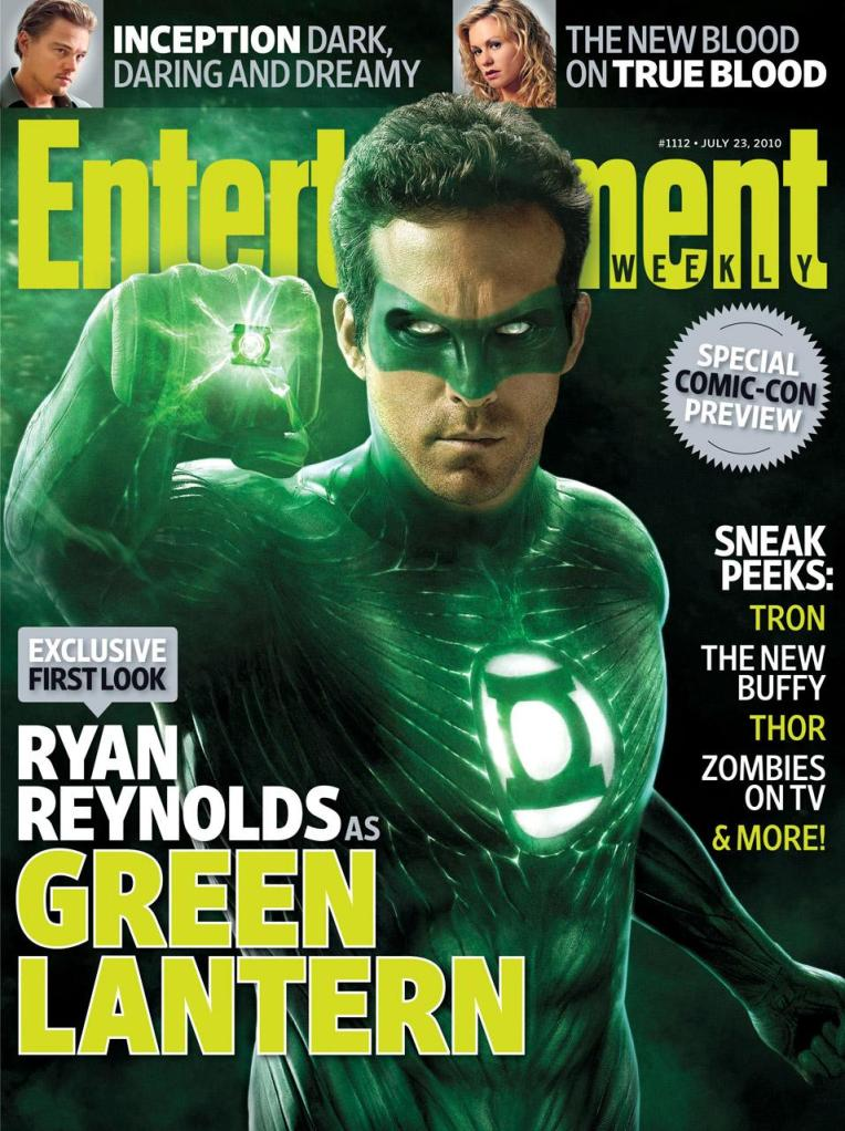 Ryan Reynolds as the Green Lantern, Entertainment Weekly magazine cover