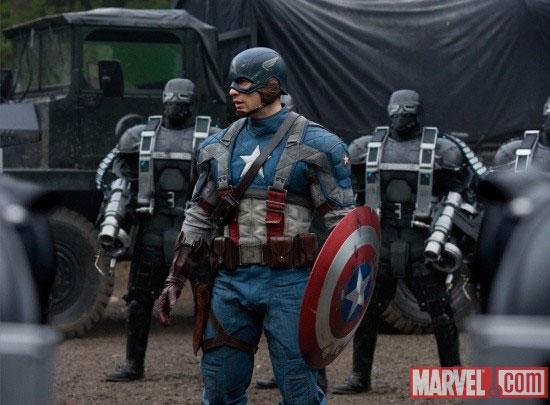 Actor Chris Evans as Captain America