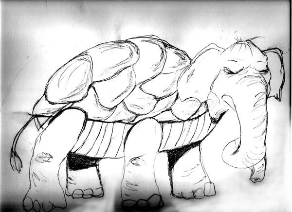 Sketchbook page - The Turtlpant