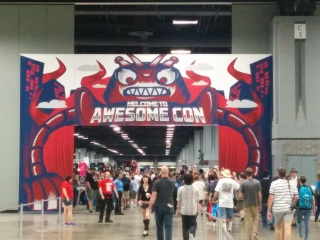 The entrance to the Awesome Con exhibition floor